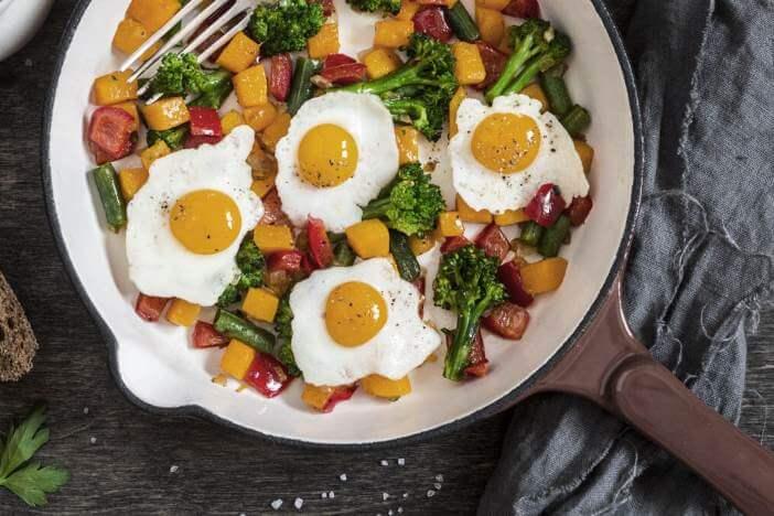 Upfit Spiegelei mit Brokkoli und Paprika Rezept